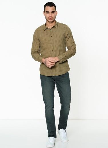 Lee Cooper Uzun Kollu Gömlek Haki